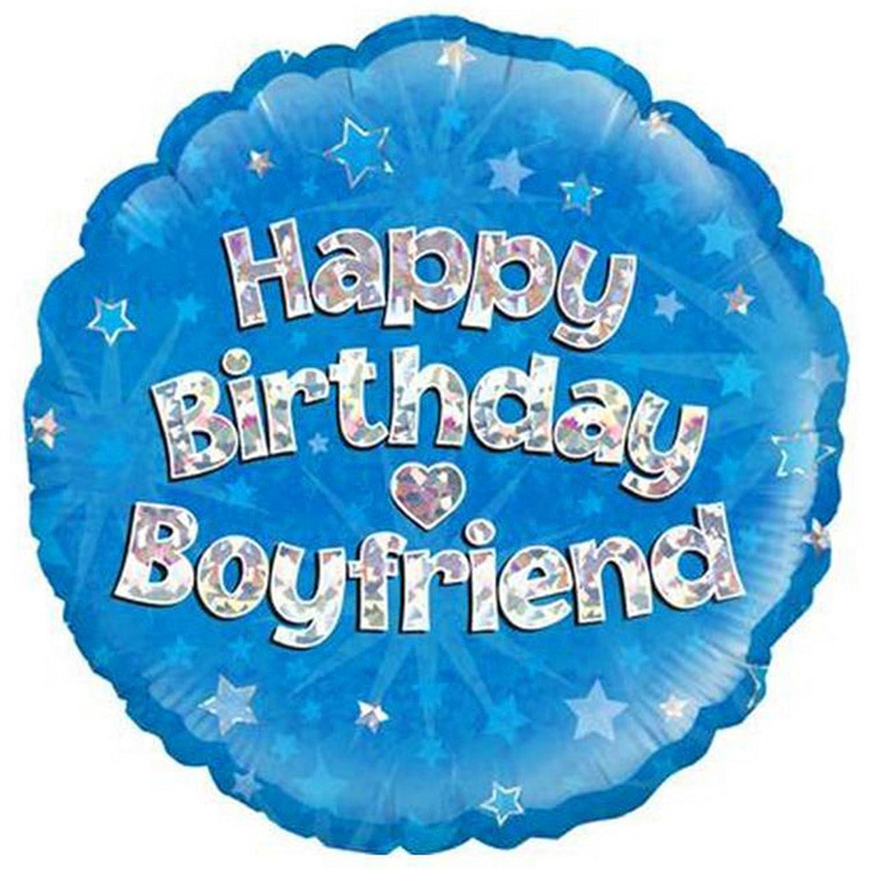 Amazon.com: Oaktree 18 inch Feliz cumpleaños novio Foil ...
