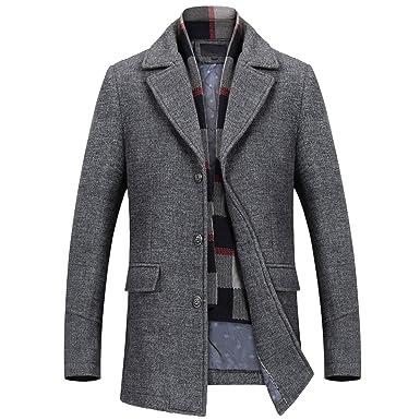 Mirecoo Herren warm Wollmantel Kurzmantel Winter Jacke Business  Amazon.de   Bekleidung 38d5affef8