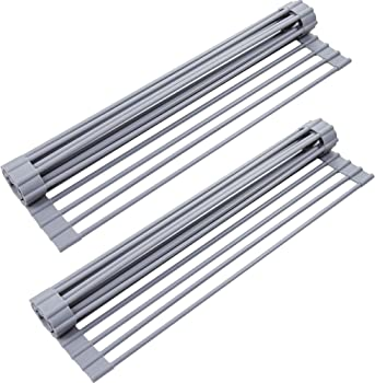2-Pack YIHONG 17 x13 Inch Over the Sink Dish Rack