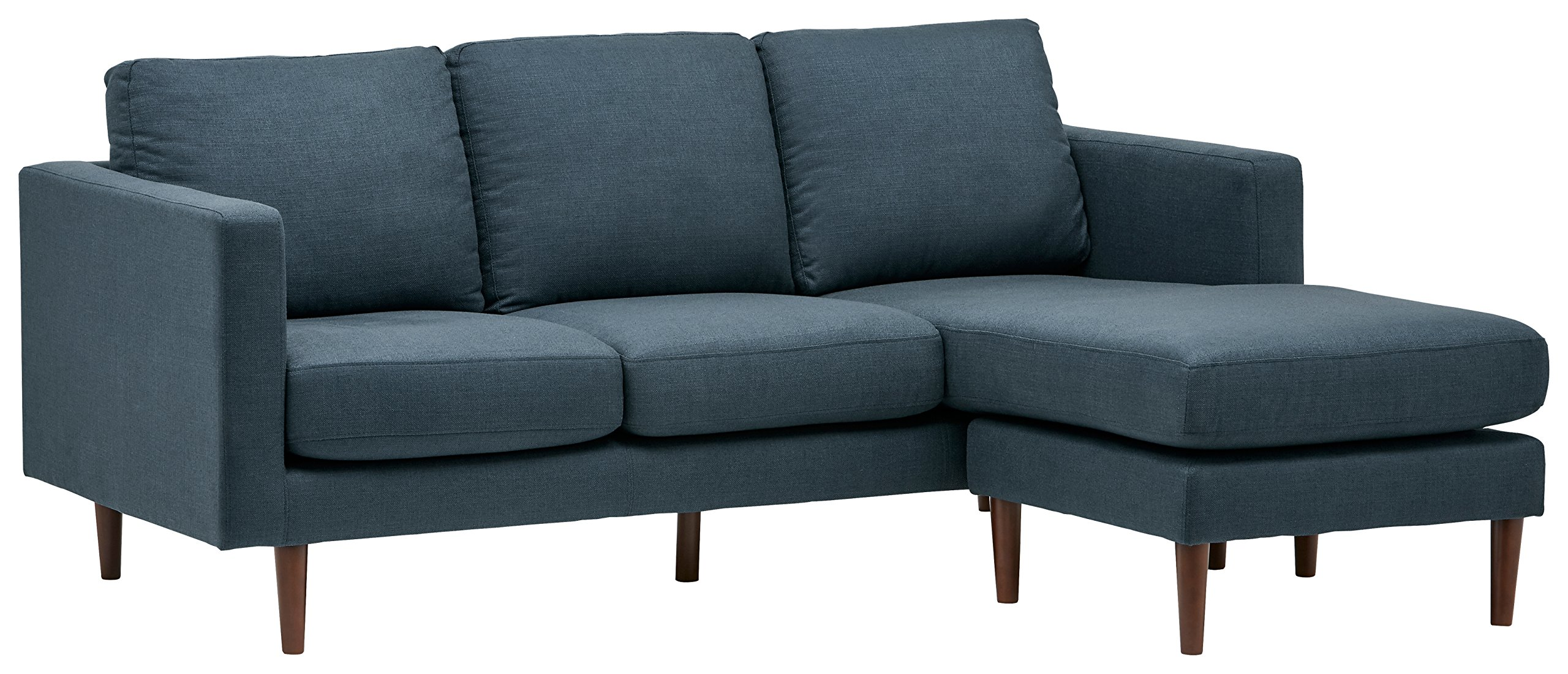 Rivet Reversible Chaise Sectional, Denim - Revolve Modern, 80'' W by Rivet