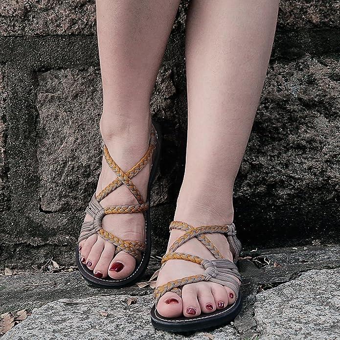 57aa208f0a7 Amazon.com  Everelax Women s Flat Sandals  Shoes