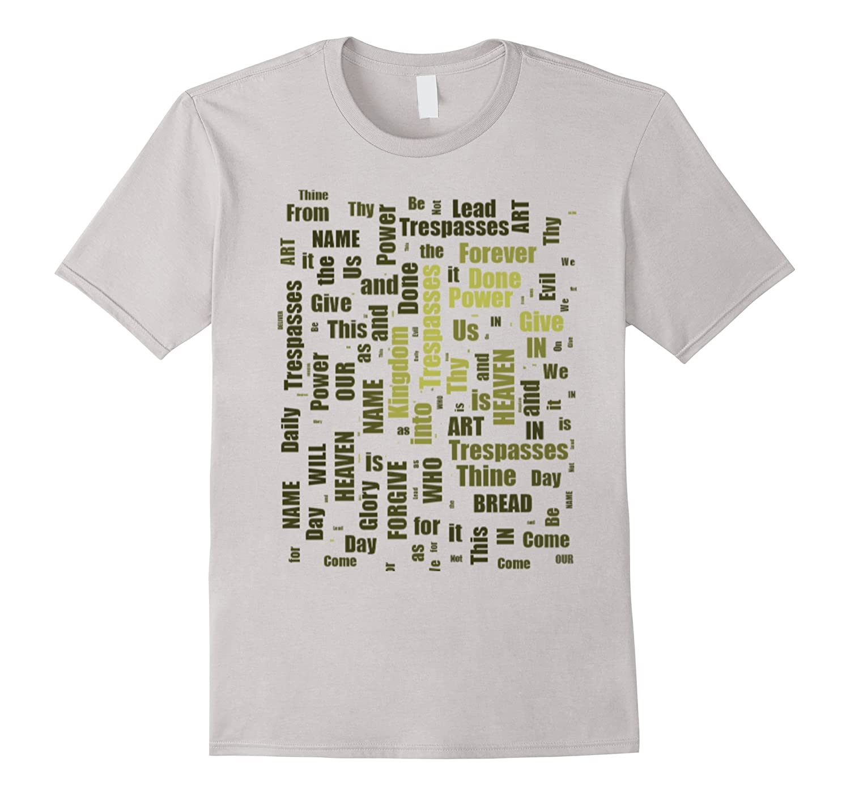 Our Father Prayer - Word Cloud Christian Catholic Tshirt-CD