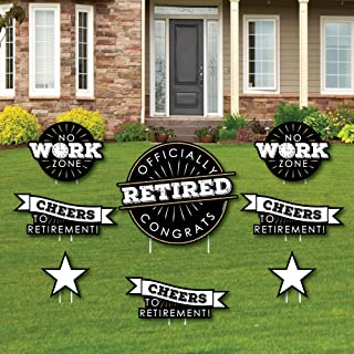 product image for Happy Retirement - Yard Sign & Outdoor Lawn Decorations - Retirement Party Yard Signs - Set of 8