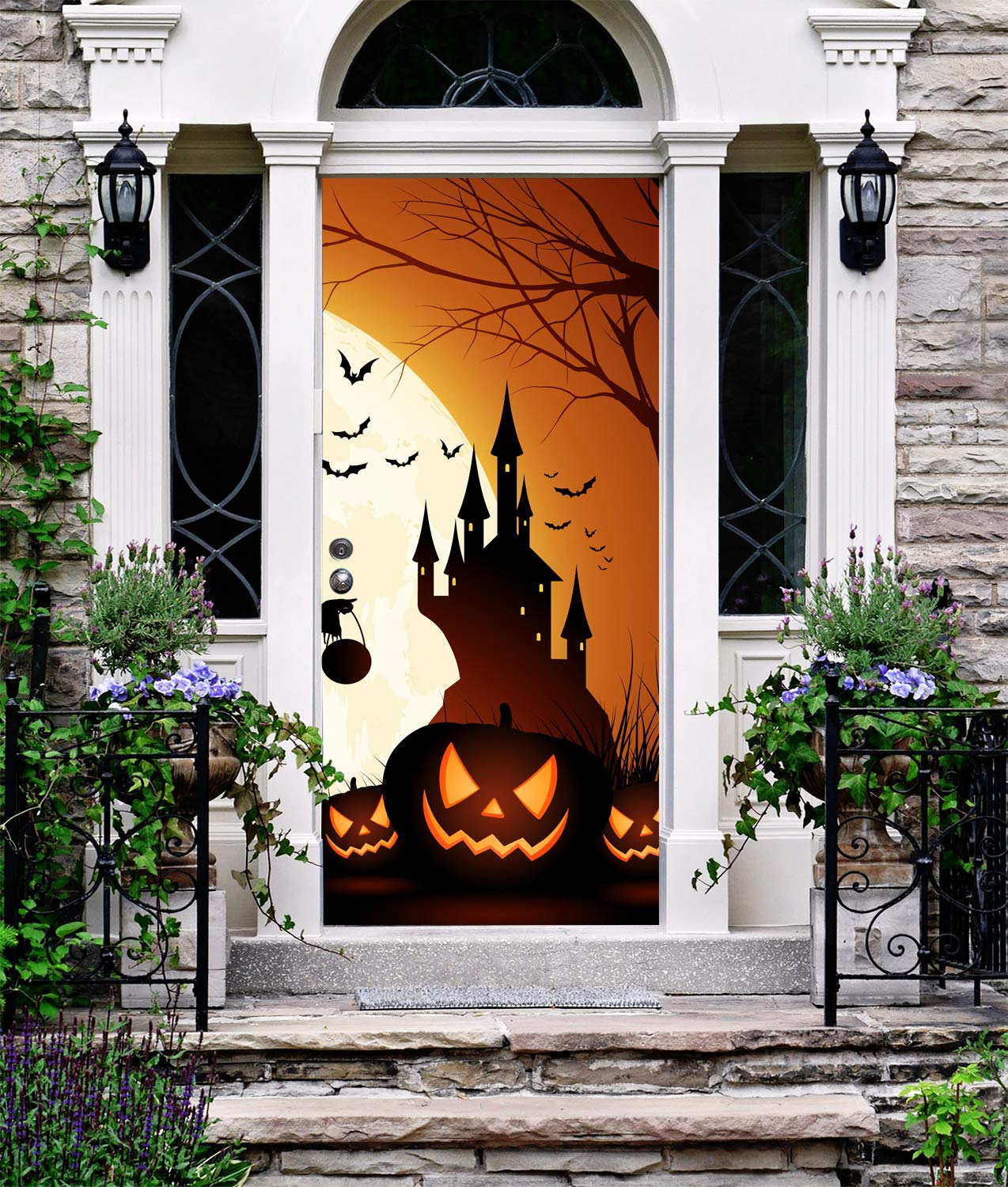 Amazon Com Halloween Banner Decor For Entry Door Holiday