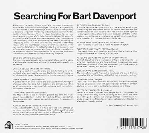 Bart Davenport Searching For Bart Davenport Amazon Music