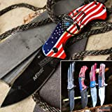 KCCEDGE BEST CUTLERY SOURCE USA American Flag 8 Inches Skull Folding Pocket Knife Proud of America Knife