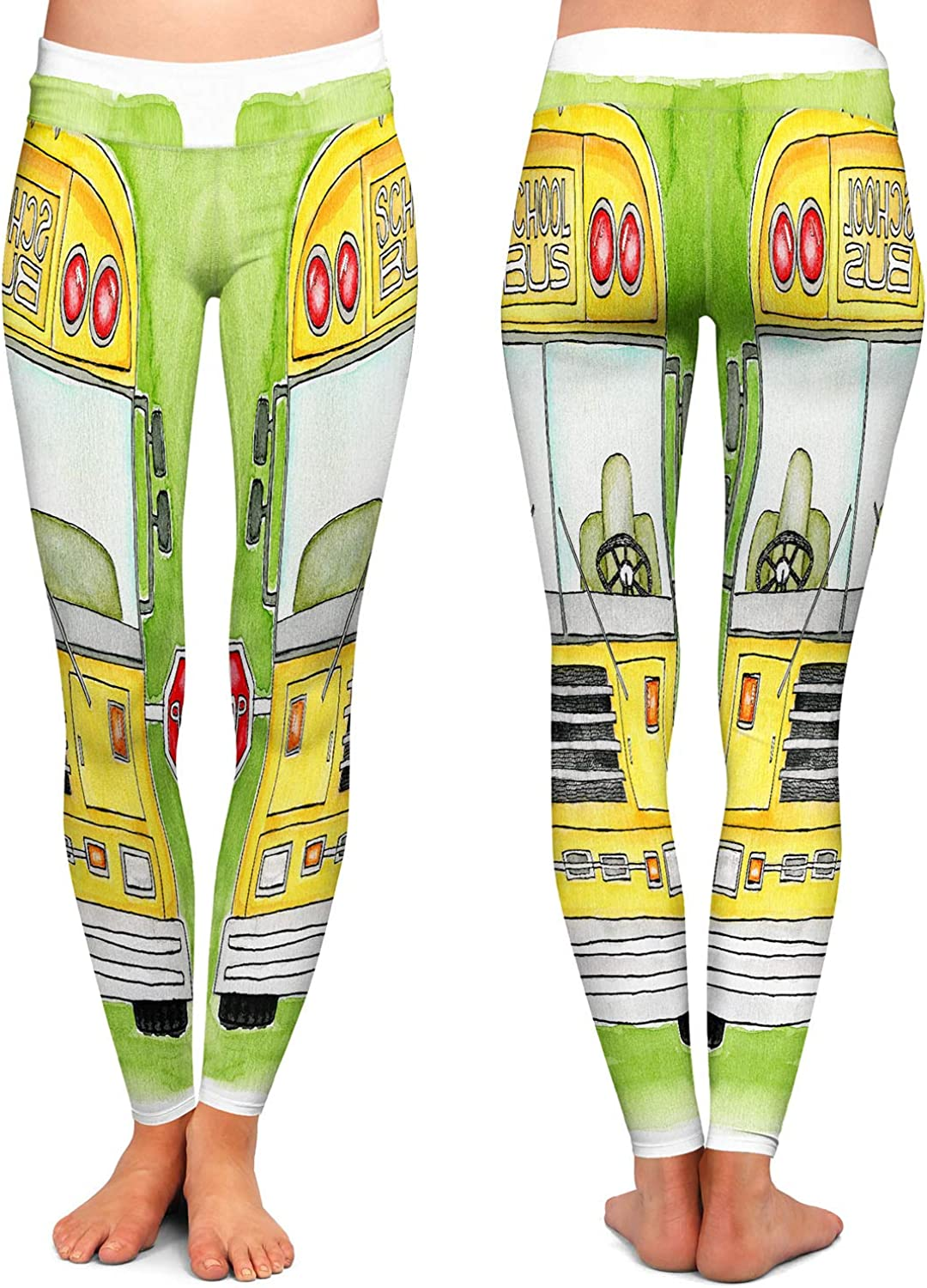 Athletic Yoga Leggings from DiaNoche Designs by Marley Ungaro School Bus