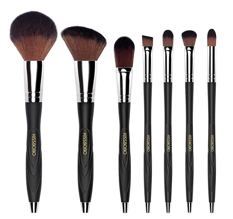 KISSBOBO Makeup Brushes Softness durability and grip Beauty Brush Kit(7 Pcs)