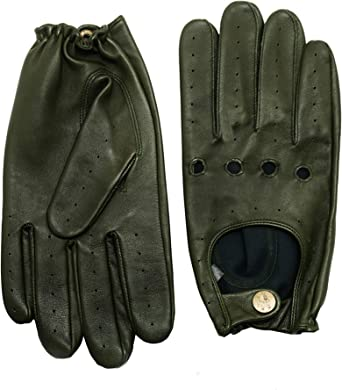 Men/'s Unlined Goat Leather Driving Gloves Tan