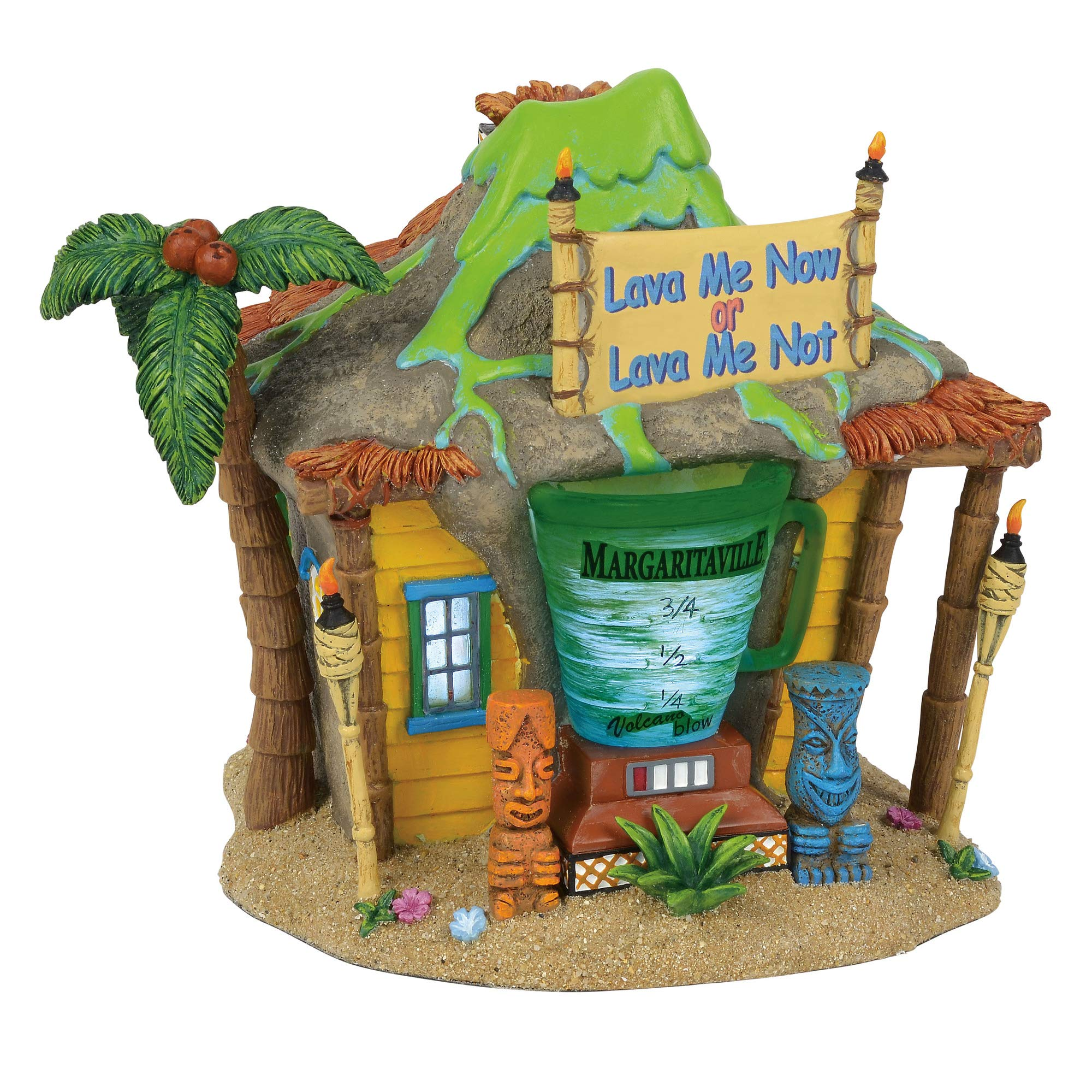 Department 56 Margaritaville Village Volcano Club Lit Animated Building, 9'', Multicolor by Department 56