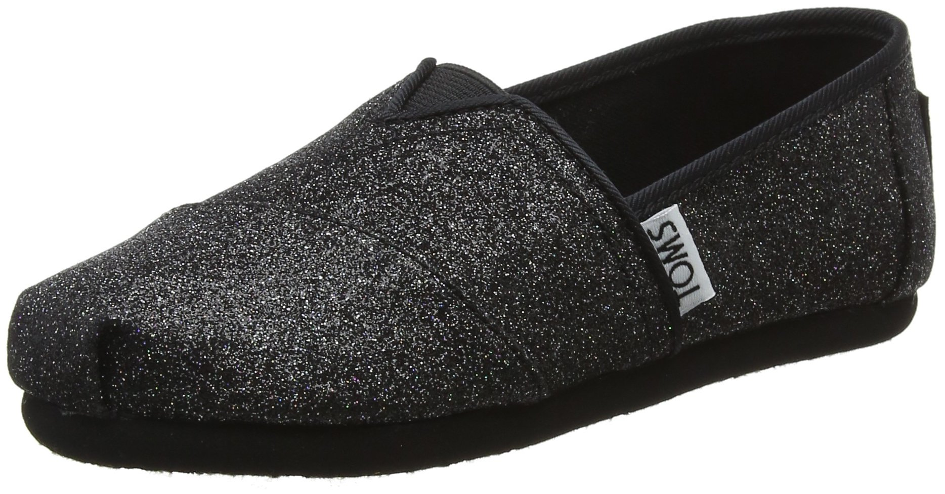 TOMS Kids Girl's Alpargata (Little Kid/Big Kid) Black Iridescent Glimmer 12.5 M US Little Kid