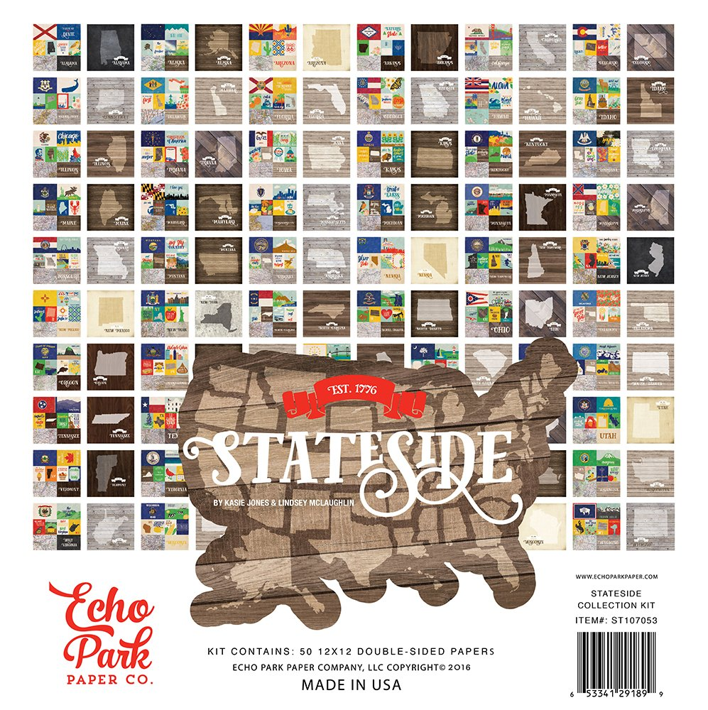 Echo Park Paper Company Stateside Collection Kit