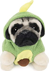 "GUND Doug The Pug Avocado Hoodie Doug for Ages 1 &Up, Green/Yellow, 5"""