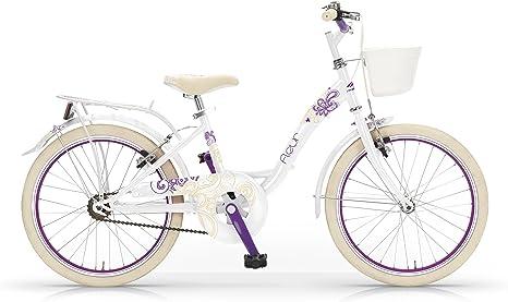 MBM Fleur - Bicicleta de Paseo para niña, Cuadro de Acero Talla 30 ...