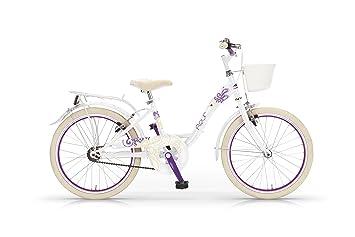 MBM Fleur - Bicicleta de Paseo para niña, Cuadro de Acero Talla 30, Frenos