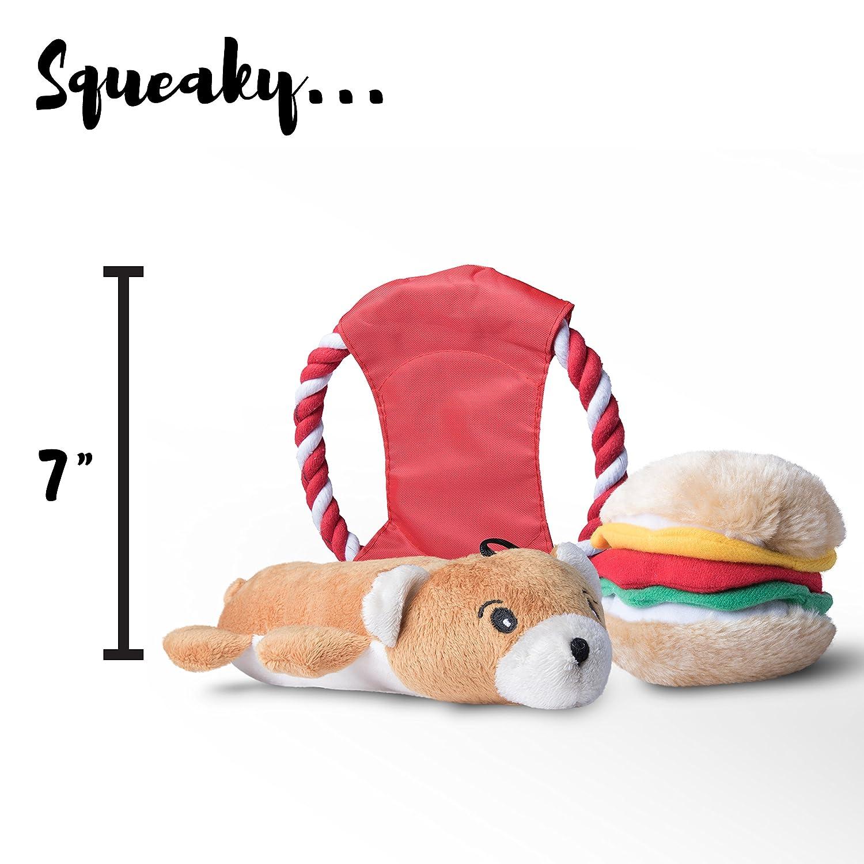 Amazon.com : Livin Well Juguetes Para Perros y juguetes Para cachorros Paquete variado Para Perros DE 11 piezas Con juguetes masticables y juguetes Para la ...