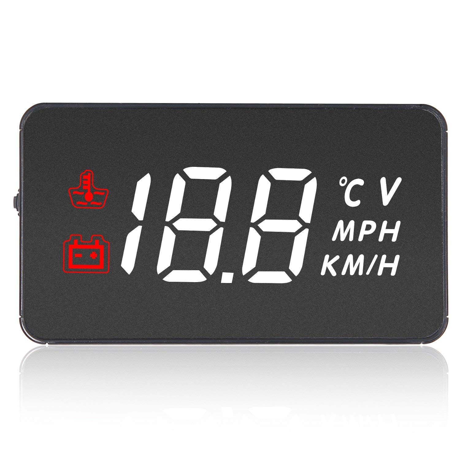 Car Head Up Display HUD LED Windshield Screen Projector Speedometer Overspeed Warning System with OBD Cable Beepzoo