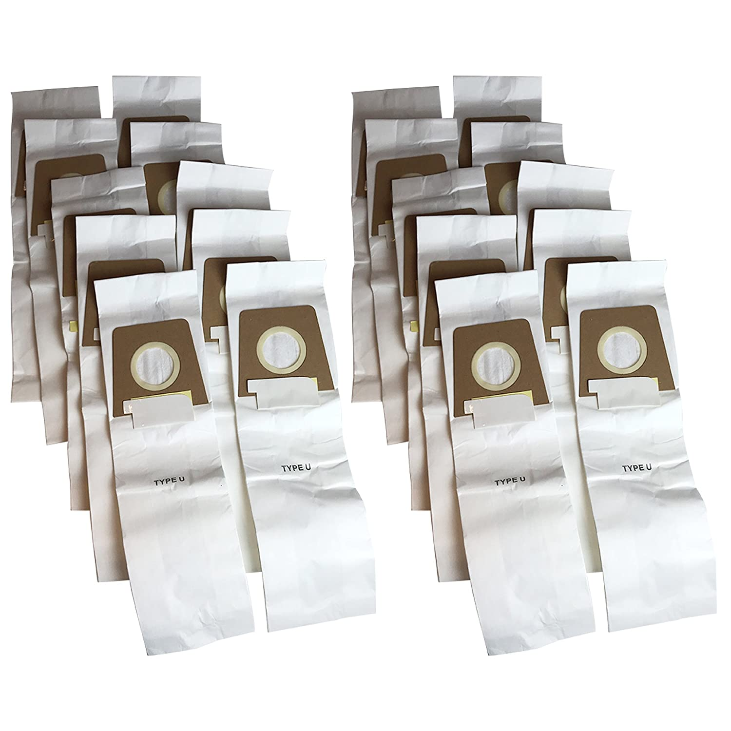 20 Dirt Devil Type U Allergen Filtration 3-Pack Vacuum Bags, Compare to Dirt Devil Part# 3920750001, 3920047001, 3920048001, Designed & Engineered by Crucial Vacuum