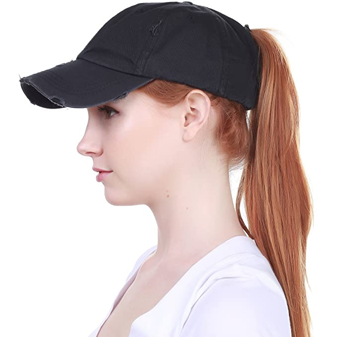 559d9fdfc Bad Hair Day Ponytail All Cotton Baseball Cap Comfy Sports Hat Daily Wear  Messy High Bun Fits Everyone