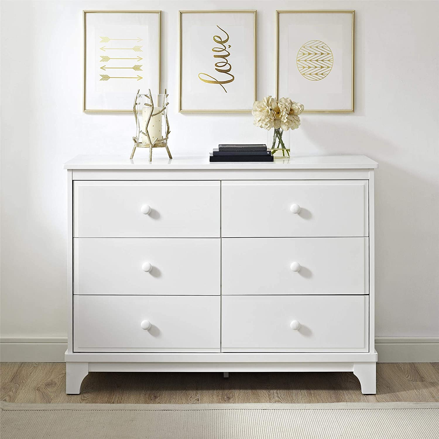 Baby Relax Baby Relax Cricket 6 Drawer Dresser, White, White