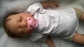 Reborn bebé muñeca Lilian, pesada, de 22 cm ... - Amazon.es
