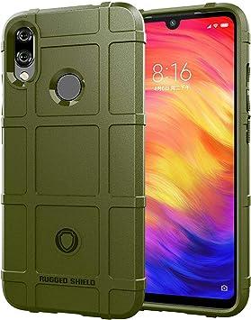 Custodia® Firmeza y Flexibilidad Smartphone Funda para Xiaomi Redmi Note 7 (Verde Ejército): Amazon.es: Electrónica