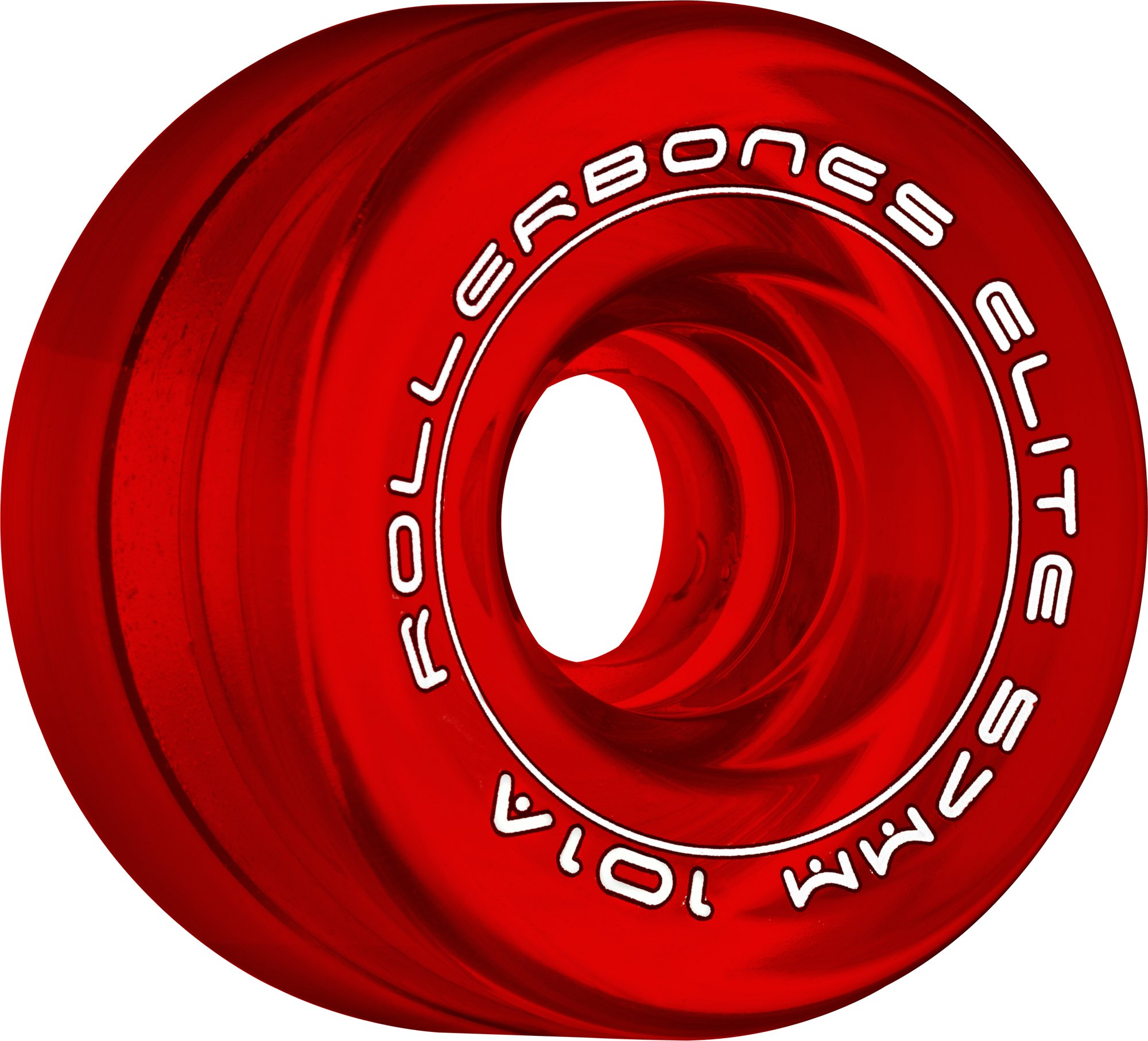RollerBones Art Elite 101A Competition Roller Skate Wheels (Set of 8), Red, 57mm by RollerBones