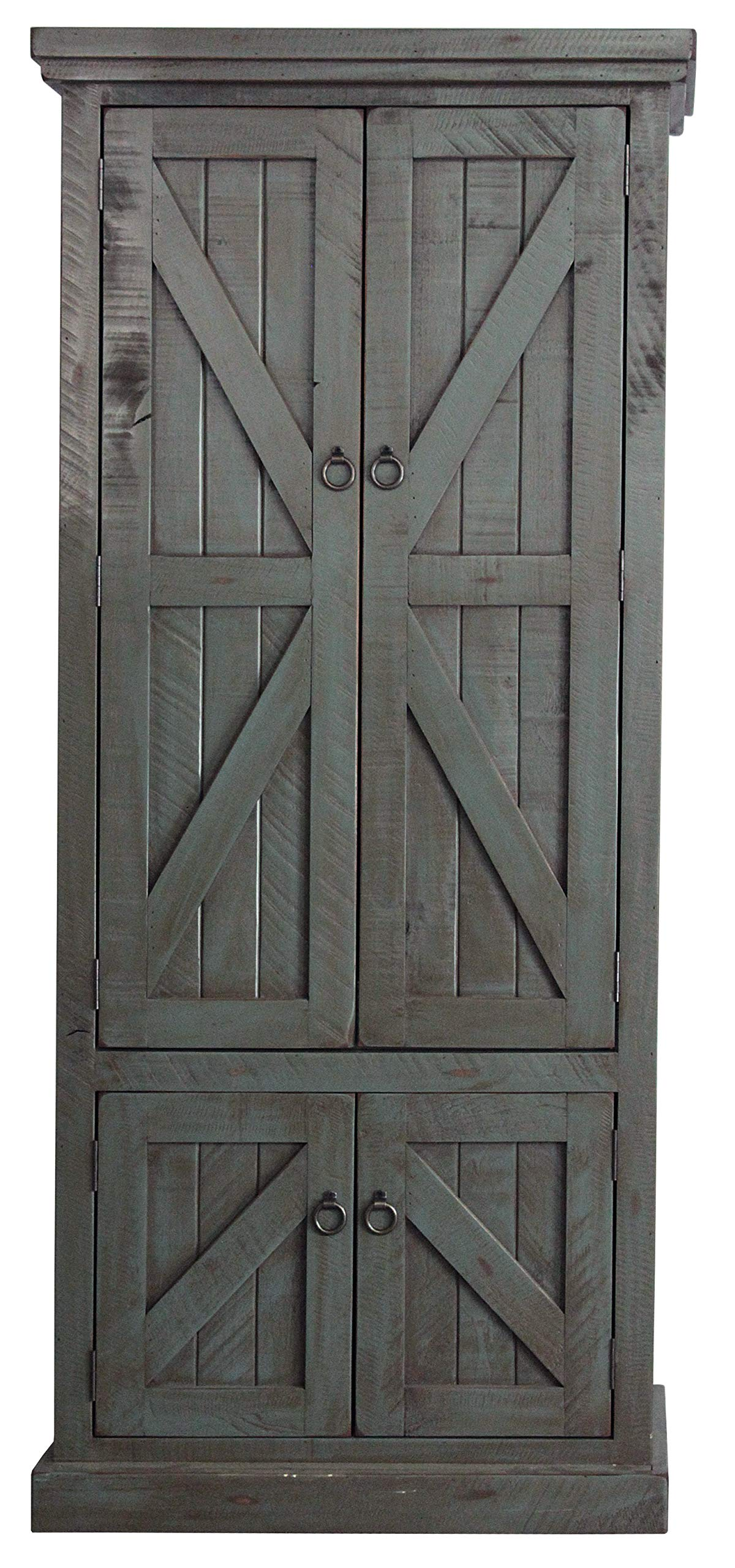 American Heartland #30791RDB Rustic Double Door Pantry, Rustic Dark Blue by American Heartland MFG. (Image #1)