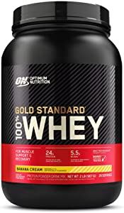Optimum Nutrition Gold Standard 100% Protein Powder, 2 Pound (Packaging May Vary) Whey Banana Cream