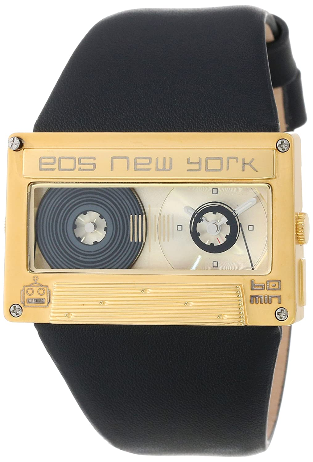 Eos New York Mixtape Watch gold - black Unisex Uhr im Kassettenlook Tape 302SBLKGLD