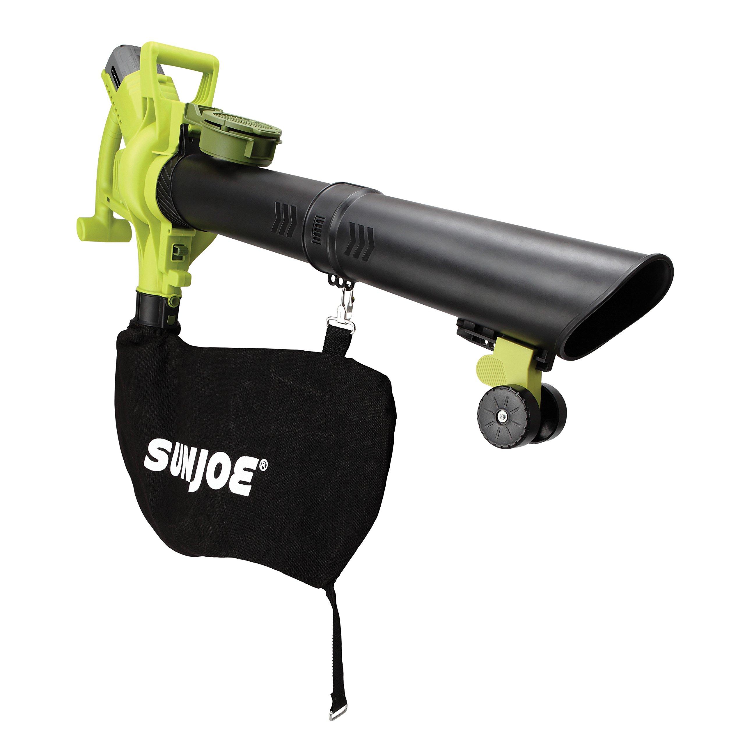 Sun Joe iONBV-RM Variable-Speed Cordless Blower/Vacuum/Mulcher   40-Volt   4.0 Ah (Renewed)