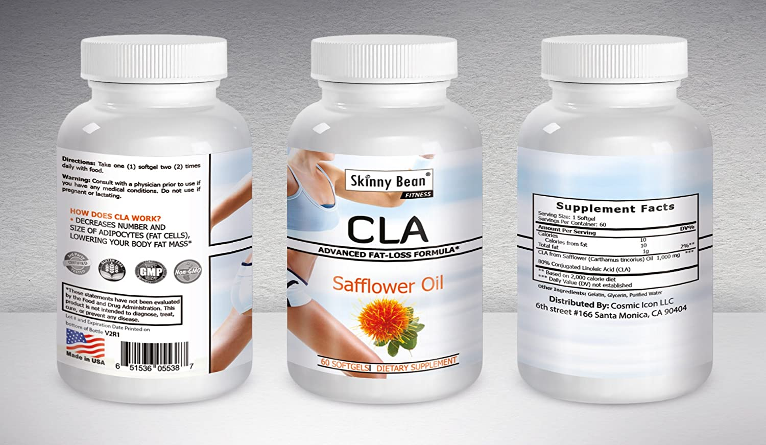 CLA for Women – BMI Lowering Safflower Oil By Skinny Bean