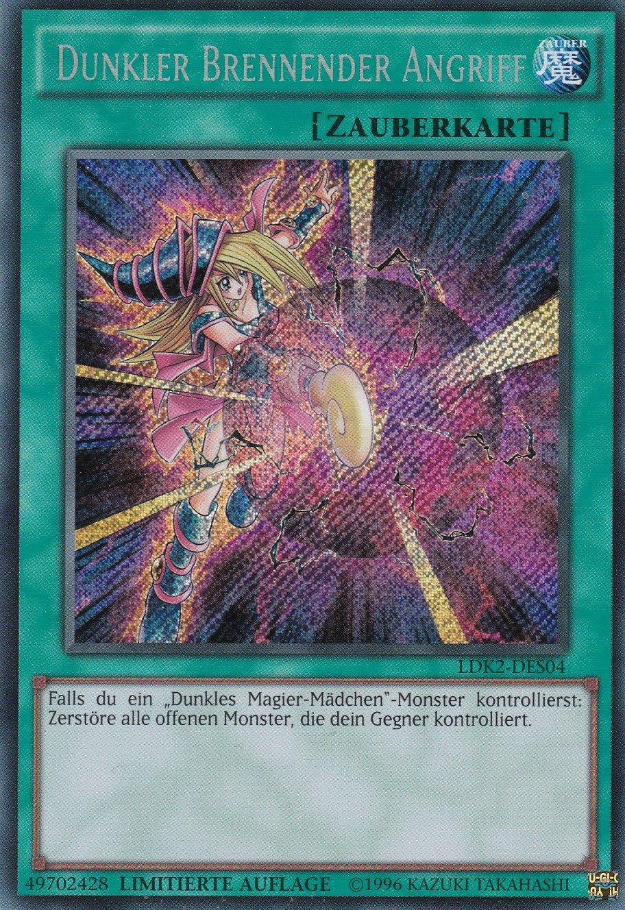 LDK2-DES04 - - Dunkler brennender Angriff - - Secret Rare - Yu-Gi-Oh - Deutsch - 1. Auflage 5a649b