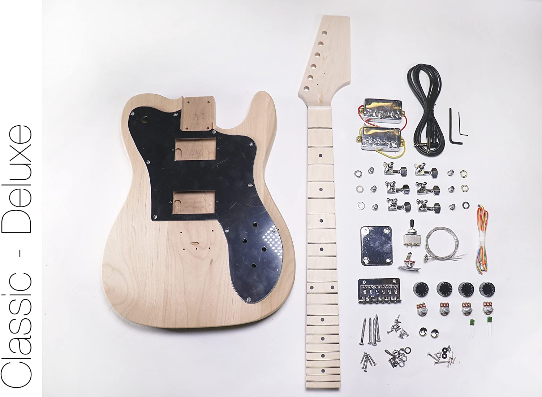 DIY Kit de guitarra eléctrica Tele Deluxe estilo construir tu ...