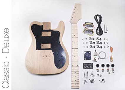 amazon com diy electric guitar kit tele deluxe style build your own rh amazon com