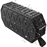 Portable Bluetooth Speaker, ToHayie IPX6 Outdoor Bluetooth Speaker with 1000mAh Battery, 66- Foot Bluetooth Range & Built-in Mic for iPhone, Samsung and More (Black)