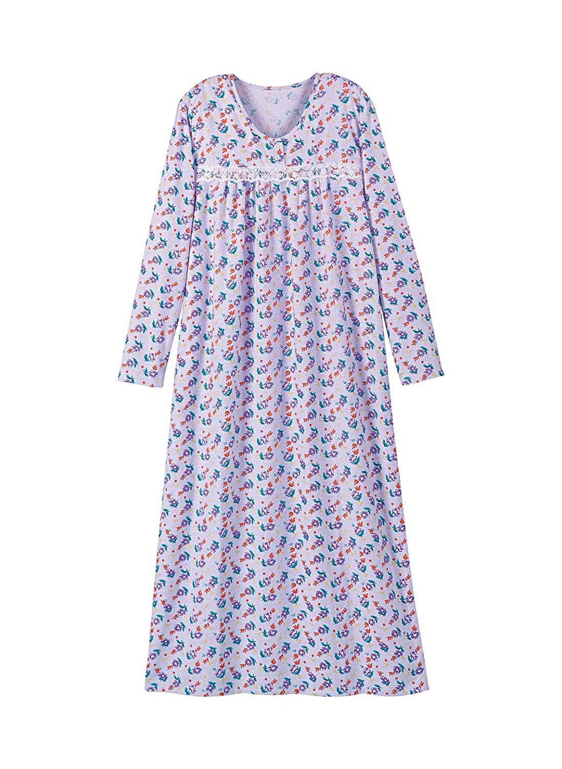 Printed Flannel Gown at Amazon Women\'s Clothing store: Nightgowns
