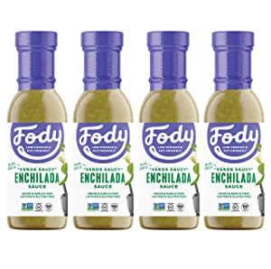 FODY Verede Saucy Enchilada Sauce, 8.5 OZ (4 counts)