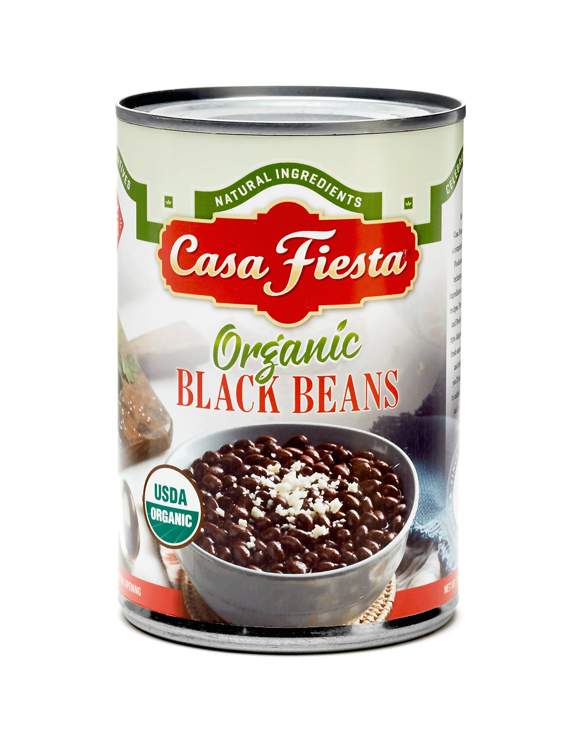 Casa Fiesta Organic Black Beans 15oz 12 pack