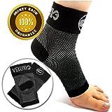 Veluxio - Calza a compressione per caviglia e piede, calzino (1 paio) per il trattamento della fascite plantare, con supporto per arco plantare e tallone