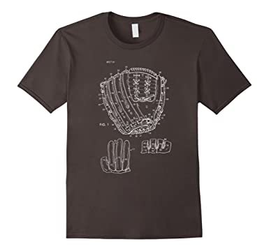 Amazon vintage baseball glove blueprint design shirt sports mens vintage baseball glove blueprint design shirt sports apparel 2xl asphalt malvernweather Images