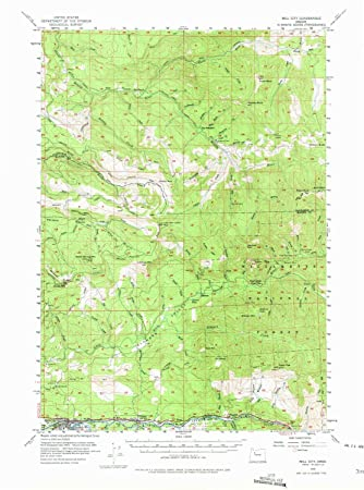 Mill City Oregon Map.Amazon Com Yellowmaps Mill City Or Topo Map 1 62500 Scale 15 X 15