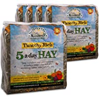 Tigerbox 5 Kilogram Natures Own Timothy Rich 5 a Day Hay Foraging Feed for Rabbits Guinea Pigs Chinchillas