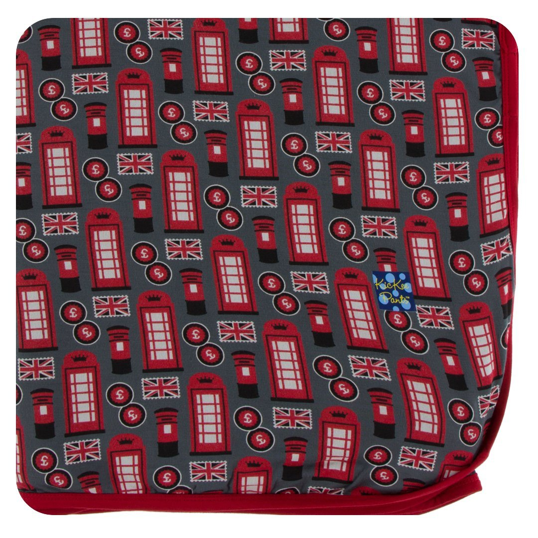 fd18ddc85 Amazon.com: Kickee Pants Holiday Throw Blanket - Cedar Vintage Ornaments,  One Size: Home & Kitchen