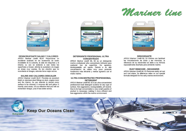 MARINER Line ML01. Desincrustante salino y calcáreo. Profesional. La evolución del vinagre 2 litros: Amazon.es: Deportes y aire libre