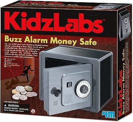 Money Safe With Alarm 4m Kidzlabs Spy Science Alarmed Bank Kidz Labs Build