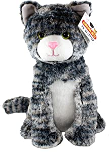 """Shelter Pets Series One: Tig The Cat - 10"""" Gray Tabby Plush Toy Stuffed Animal - Based on Real-Life Adopted Pets - Benefiting The Animal Shelters They were Adopted from"""