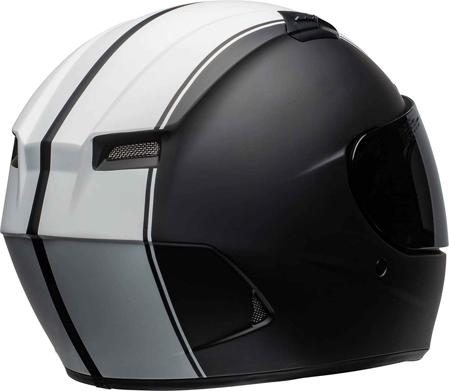 Matte Black//White 2X-Large Bell Raly Adult Qualifier DLX On-Road Motorcycle Helmet