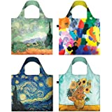 LOQI Reusable Grocery Bag, A70878, Museum8 Collection, One Size