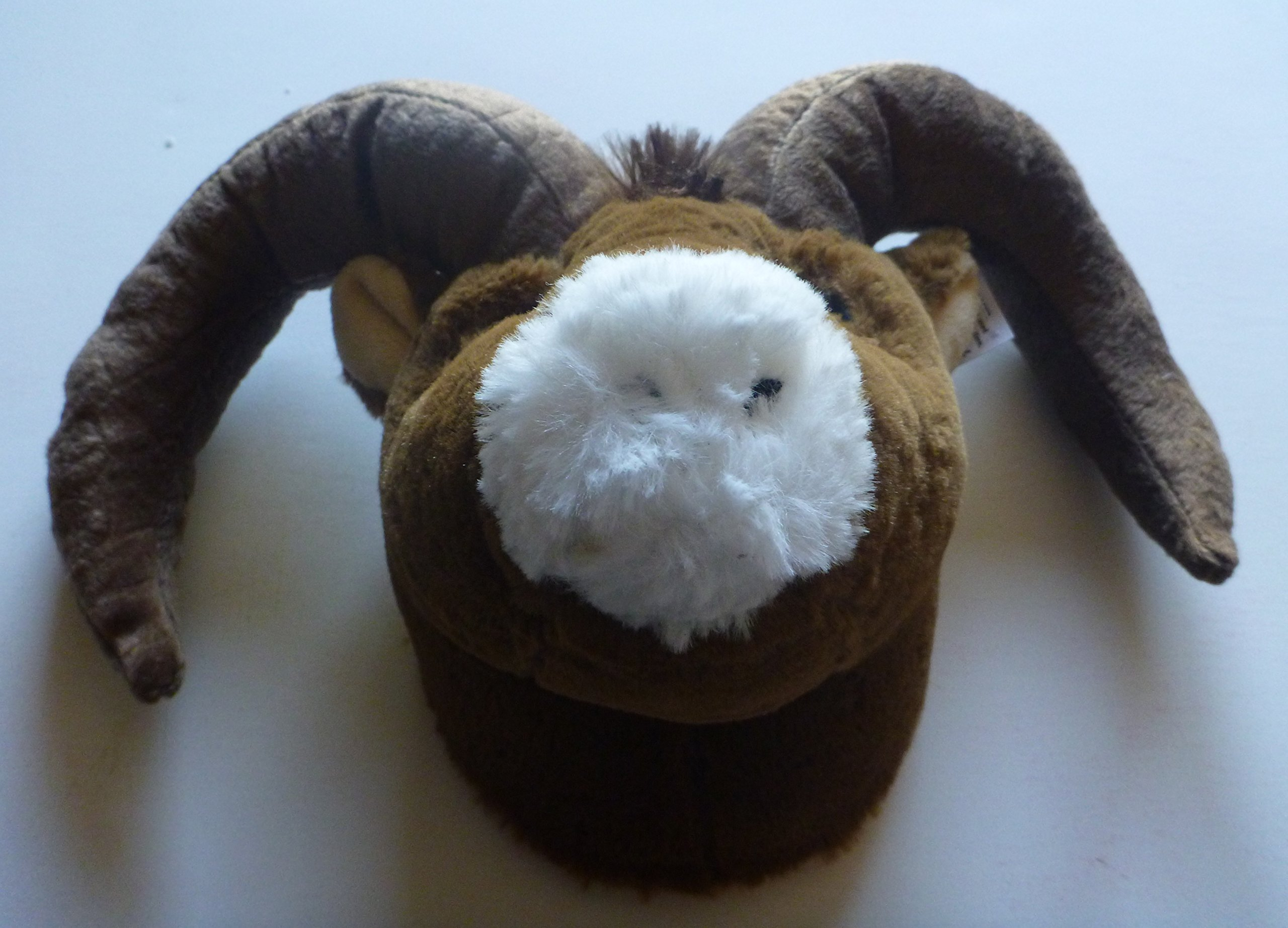 "Wall Mountable Ram Head - Plush Ram Stuffed Animal - 10"""